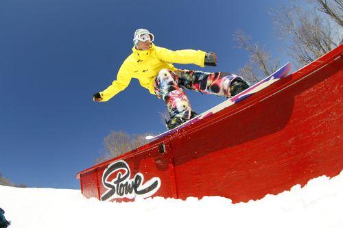 Stowe snowboarder