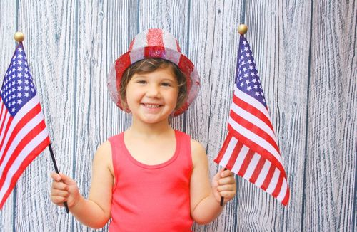 Girl on the 4th of July