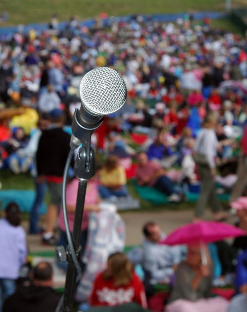 Microphone-on-stage-festival