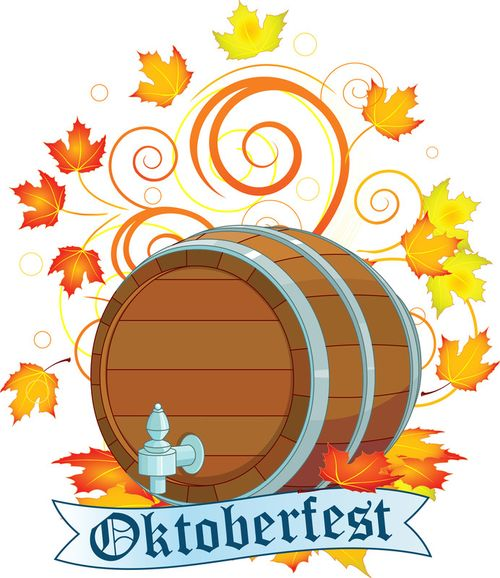 Oktoberfest-design-with-beer-keg